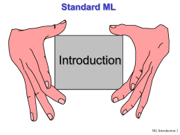 Standard ML - Technion – Israel Institute of Technology