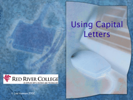 Capitalization - Red River College