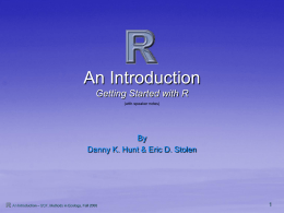 R- An Introduction