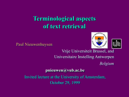 Terminological aspects of text retrieval