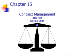 Contractual Law - Texas A&M University