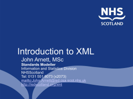 XML - Information Services Division