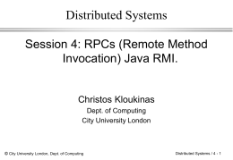 Distributed Systems - City University London