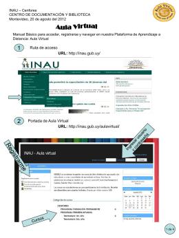 Diapositiva 1 - Bienvenidos al INAU