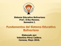 Sistema educativo bolivariano i semestre