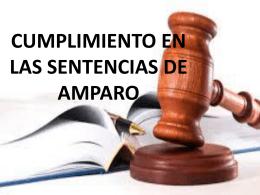 CUMPLIMIENTO EN LAS SENTENCIAS DE AMPARO