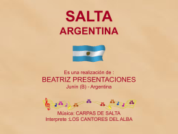 SALTA UNA PROVINCIA DE ARGENTINA--