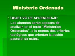 Ministerio Presbiterado