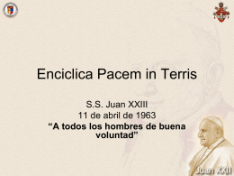 Enciclica Pacem in Terris - Doctrina Social de la Iglesia