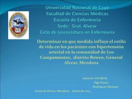 Universidad Nacional de Cuyo Facultad de Ciencias …