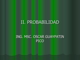 II. PROBABILIDAD