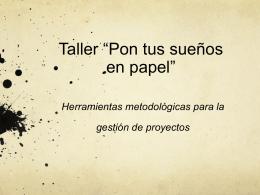Taller ciclo de proyectos