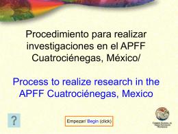 Procedimiento para realizar investigaciones en el APFF