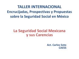 TALLER INTERNACIONAL Encrucijadas, Prospectivas y