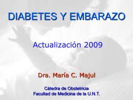 DIABETES GESTACIONAL - Facultad de Medicina
