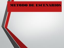 METODO DE ESCENARIOS