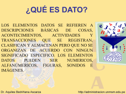SISTEMAS DE INFORMACION I