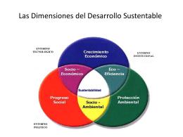 Las dimensiones del desarollo sustentable
