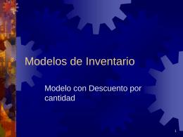 Modelos de Inventario