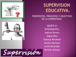 SUPERVISION EDUCATIVA.
