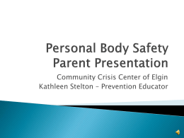 Personal Body Safety Parent Presentation