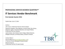 IT Services Vendor Benchmark