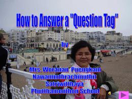 การตอบคำถามใน Question Tag