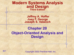 Modern Systems Analysis and Design Joey F. George …