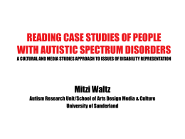 Reading case studies of people with autistic spectrum