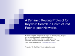 A Dynamic Routing Protocol for Keyword Search in