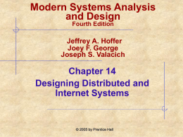 Modern Systems Analysis and Design Ch14