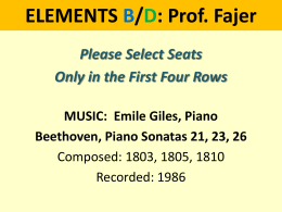 ELEMENTS B1: Prof. Fajer