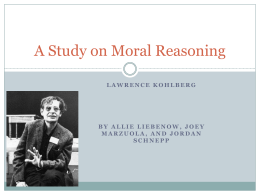 A Study on Moral Reasoning