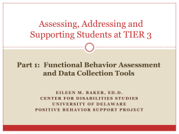 Working with students who present behavioral challenges