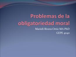 Problemas de la obligatoriedad moral