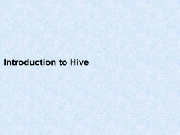 Hive User Defined Functions