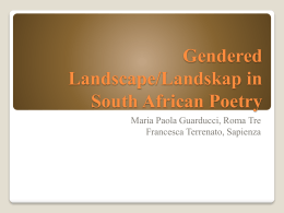 Gendered Landscape/Landskap in South African Poetry