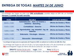 VER CRONOGRAMA DE ENTREGA DE TOGAS