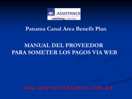 Diapositiva 1 - AXA Assistance Panama, Administering the