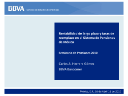 Diapositiva 1 - International Center for Pension Research