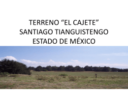 "TERRENO ""EL CAJETE"" SANTIAGO TIANGUISTENGO …"