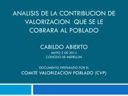 CONTRIBUCION DE VALORIZACION POBLADO