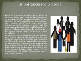 Importancia socio laboral en la secretaria