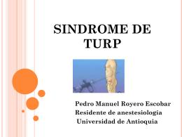 SINDROME DE TURP
