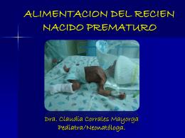 ALIMENTACION DEL RECIEN NACIDO PREMATURO