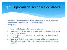 3.2 Esquema de las bases de datos.