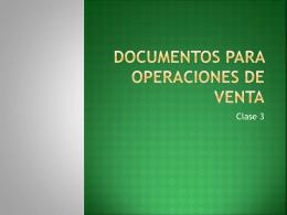 Documentos para operaciones de venta