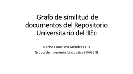 Grafo de similitud de documentos del Repositorio