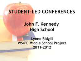 STUDENT-LED CONFERENCES - Wake Forest Baptist Health