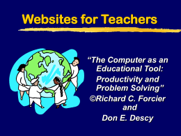 Websites for Teachers - University of Missouri
